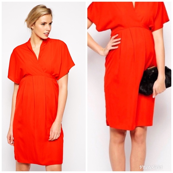 49dd8d196 ASOS Maternity Dresses & Skirts - ASOS Maternity Work Wear Dress w/ Kimono  Sleeve 14